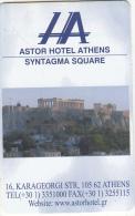 GREECE - Astor, Hotel Keycard, Sample