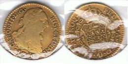 ESPAÑA CARLOS III ESCUDO SEVILLA 1780 ORO GOLD A 75 - [ 1] …-1931 : Reino