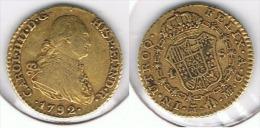 ESPAÑA CARLOS IIII ESCUDO MADRID 1792 ORO GOLD A 72 - [ 1] …-1931 : Reino