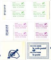 VIGNETTES CARNET POSTE CODE POSTAL SAINT ETIENNE 42000 42100 - Commemorative Labels