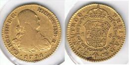 ESPAÑA CARLOS IV  ESCUDO  1791 MADRID ORO GOLD A8 - [ 1] …-1931 : Reino