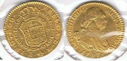 ESPAÑA CARLOS IV  ESCUDO  1797 MADRID ORO GOLD A10 - [ 1] …-1931 : Reino