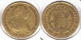 ESPAÑA CARLOS IV 2 ESCUDOS  1790 MADRID ORO GOLD A11 - [ 1] …-1931 : Reino