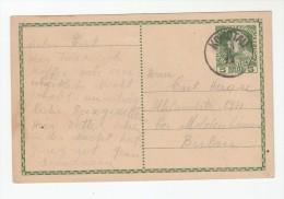 1913 Komotau Chomutov AUSTRIA (czech)  POSTAL STATIONERY CARD To Berlin Germany Cover Stamps Czechoslovakia - 1850-1918 Empire