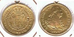 ESPAÑA CARLOS IV 2 ESCUDOS  1794 MEXICO ORO GOLD A12 - Colecciones