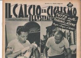 RA#33#395 IL CALCIO E CICLISMO ILLUSTR.n.21/MAGGIO 1955/GIRO D'ITALIA COPPI-MAGNI/DEFILIPPIS/RINO BENEDETTI/JUGOSLAVIA - Ciclismo