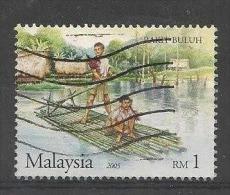 LSJP MALAYSIA Malaysia Native Raft 2005 - USED - Malaysia (1964-...)