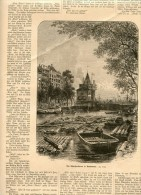 Amsterdam Gravure Engraving Netherlands Holland 1882 - Vieux Papiers