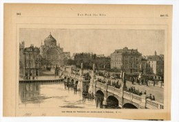 Amsterdam Gravure Engraving Netherlands Holland 1887 Bridge Bruecke Pont - Vieux Papiers