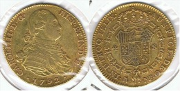 ESPAÑA CARLOS IV 4 ESCUDOS  1792 MADRID ORO GOLD A15 - Colecciones