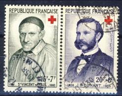 Francia 1958 Serie N. 1287-1289  Pro Croce Rossa Usati Catalogo € 3,20 - Gebraucht