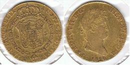 ESPAÑA FERNANDO VII 4 ESCUDOS  1820 ORO GOLD A17 - [ 1] …-1931 : Reino