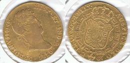 ESPAÑA FERNANDO VII 4 ESCUDOS  1820 ORO GOLD A18 - [ 1] …-1931 : Reino