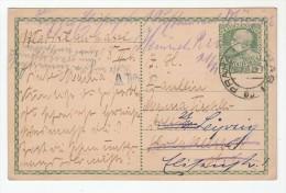 1911? Prag  AUSTRIA Czech POSTAL STATIONERY Card REDIRECTED LEIPZIG Germany Cover Stamps Czechoslovakia - 1850-1918 Empire
