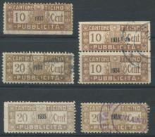 941 - TESSIN Fiskalmarken - Steuermarken