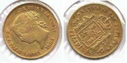 ESPAÑA FILIPINAS ISABEL II 4 PESOS  1864 MANILA  ORO GOLD A22 - Colecciones