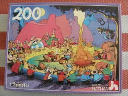 ASTERIX - PUZZLE 200 PIECES + 1 POSTER - NATHAN - ASTERIX LE BANQUET - OCCASION INCOMPLET TRES BON ETAT - Astérix