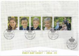 Belg. 2016 - FDS - COB N° 4569/73 - Les Enfants Royaux - FDC