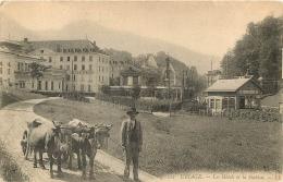 URIAGE LES HOTELS ET LA STATION ATTELAGE DE BOEUFS