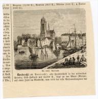 Dortdrecht Dordt Dortrecht Gravure Engraving Netherlands Holland 1874 Hafen Port Ships Schiffe - Alte Papiere