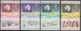 British Antarctic Territory 1971 Michel 39 - 42 Neuf ** Cote (2005) 80.00 Euro 10 Ans Traité De L'Antarctique - Territoire Antarctique Britannique  (BAT)