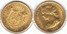 ESPAÑA ISABEL II 10 ESCUDOS 1865 ORO GOLD A30 - [ 1] …-1931 : Reino