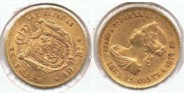 ESPAÑA ISABEL II 40 REALES 1864 MADRID ORO GOLD A21 - [ 1] …-1931 : Reino