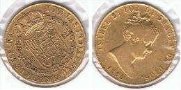 ESPAÑA ISABEL II 80 REALES 1835 MADRID ORO GOLD A19 - [ 1] …-1931 : Reino