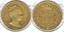 ESPAÑA ISABEL II 80 REALES 1845 BARCELONA ORO GOLD A20 - [ 1] …-1931 : Reino