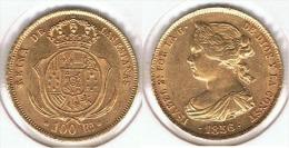 ESPAÑA ISABEL II 100 REALES 1856 MADRID ORO GOLD A23 - Colecciones