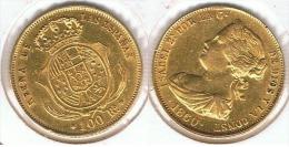 ESPAÑA ISABEL II 100 REALES 1860 MADRID ORO GOLD A27 - Colecciones