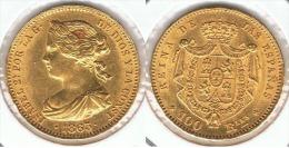 ESPAÑA ISABEL II 100 REALES 1863 MADRID ORO GOLD A28 - [ 1] …-1931 : Reino