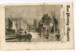 Rotterdam Gravure Engraving Netherlands Holland 1836 Hafen Port Das Pfennig-Magazin - Vieux Papiers