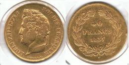 FRANCIA FRANCE 40 FRANCS FRANCOS 1837 A ORO GOLD PARIS A57 - Francia