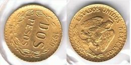 MEXICO 2 PESOS 1920 ORO GOLD A53 - México
