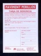 Ciclismo. España. *Paviment Perillós - Amics De La Bici. Barcelona* Meds: 112x155 Mms. Nueva. - Cycling