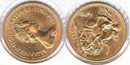 R.U. INGLATERRA ISABEL II SOBERANO 1981 ORO GOLD A 70 - 1 Sovereign