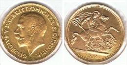 R.U. INGLATERRA JORGE V SOBERANO 1910 ORO GOLD A 68 - 1 Sovereign