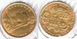 R.U. INGLATERRA VICTORIA HALF MEDIO SOBERANO 1892 ORO GOLD A 62 - 1816-1901 : Acuñaciones S. XIX