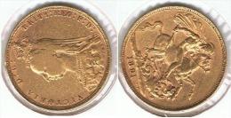 R.U. INGLATERRA VICTORIA SOBERANO 1891 ORO GOLD A 64 - 1816-1901 : Acuñaciones S. XIX