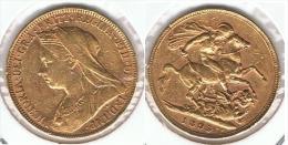 R.U. INGLATERRA VICTORIA SOBERANO 1895 ORO GOLD A 65 - 1816-1901 : Acuñaciones S. XIX