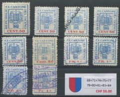 954 - TESSIN Fiskalmarken - Steuermarken