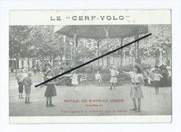 Carte Double Face  Abîmée - Le Cerf VOLO - Nouveau Jeu D´anneaux Aériens - Match De Cerf Volo - Bosland Et Leynaud - - Cartes Postales