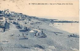 CPA-1932-44-PREFAILLES-VUE Sur La PLAGE, Prise Des DUNES-TBE - Préfailles