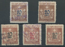 956 - TESSIN Fiskalmarken - Steuermarken