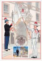 1.MONACO Carte Maximum Yvert 2107 Carabiniers - Maximumkaarten