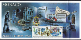 1.MONACO Carte Maximum Yvert 2145 150 Ans Naissance Prince Albert 1er (pli: Voir Scanne Verso) - Cartoline Maximum