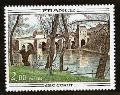 FRANCE 1977 - ART / PAINTING Bridge Of Mantes / J-B Camille Corot - Mi 2012 MNH ** L470 - Francia