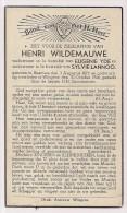 DP Henri WILDEMAUWE - Yde - Lannoo - Beernem - Wingene - 1872 / 1946 - Décès