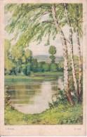 AK Künstlerkarte - Flusslandschaft - U Vody - J. Strnad - 1932 (22076) - Ohne Zuordnung